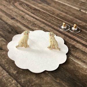 Labrador enamel earrings